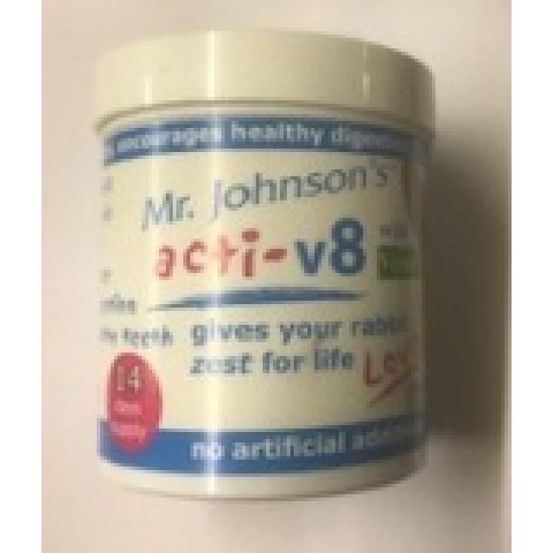 Mr Johnson's Acti-V8 With Verm-X 100g For Rabbits  14 days supply