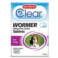 Bob Martin Clear Wormer Tablets for Large Dogs