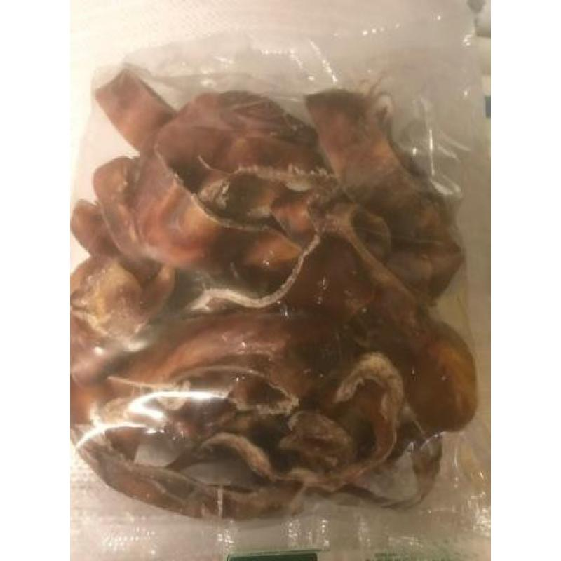 Pigs Ear Strips Large Quality Pieces 500g Pack