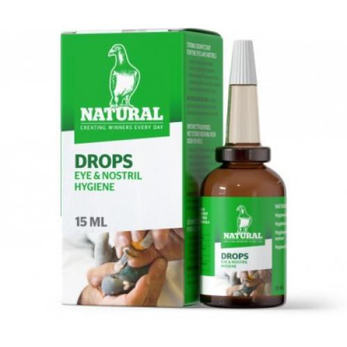 Natural Drops 15ml, Hygiene of eyes and nostrils in Racing Pigeons