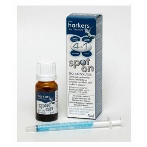 Harkers – 4 in 1 Spot On treatment for pigeons 5ml