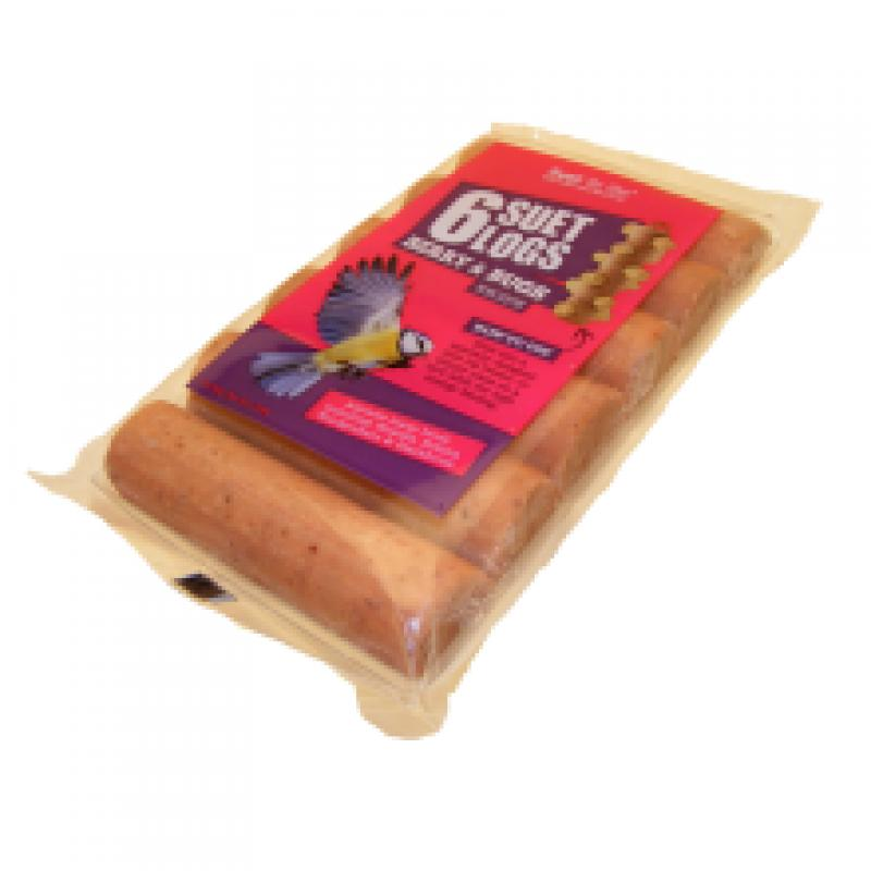 Suet To Go Berry and Bugs Suet Logs, 6pk