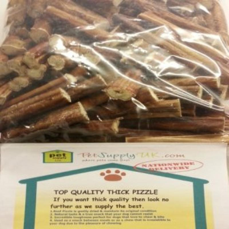 Beef Bulls Pizzle (5 to 6) 50pk Thick Quality Sticks